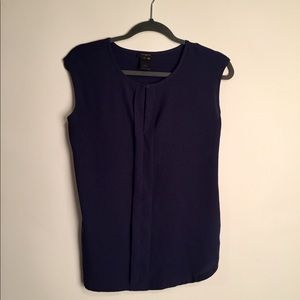 Ann Taylor navy blue blouse XS